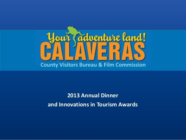 2013 Annual Dinner and Innovations in Tourism Awards