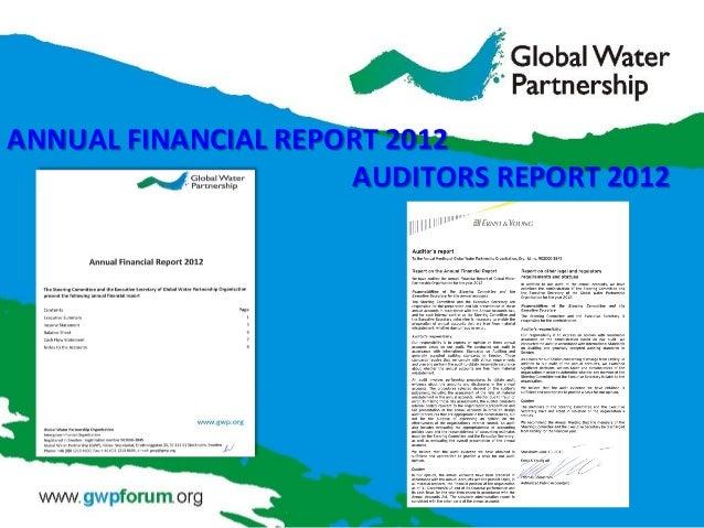 ANNUAL FINANCIAL REPORT 2012 AUDITORS REPORT 2012