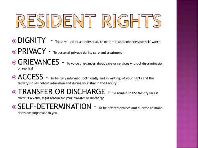 Residents rights