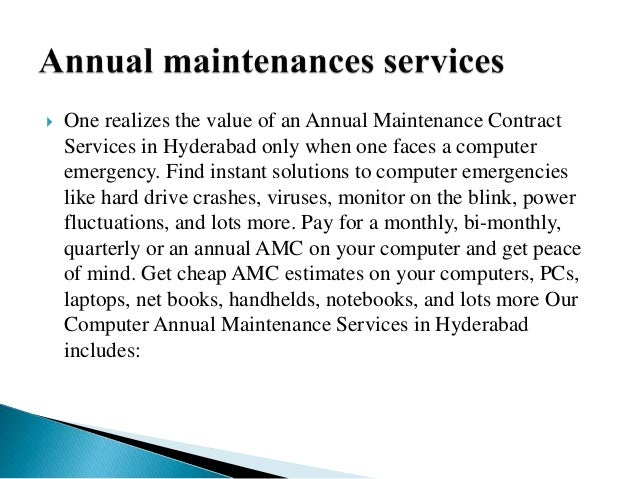 Annual Maintenance Contract Template - Apigram.Com