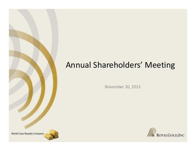 AnnualShareholders'Meeting November20,2013
