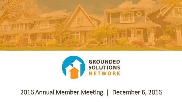 2016 Annual Member Meeting | December 6, 2016
