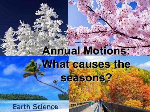 Annual Motions: What causes the seasons? Earth Science