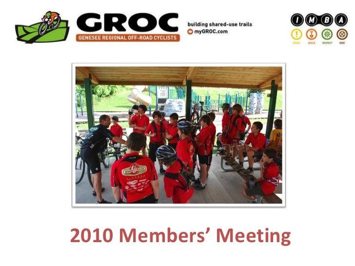 2010 Members' Meeting
