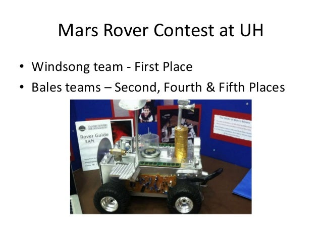 uh mars rover - photo #8