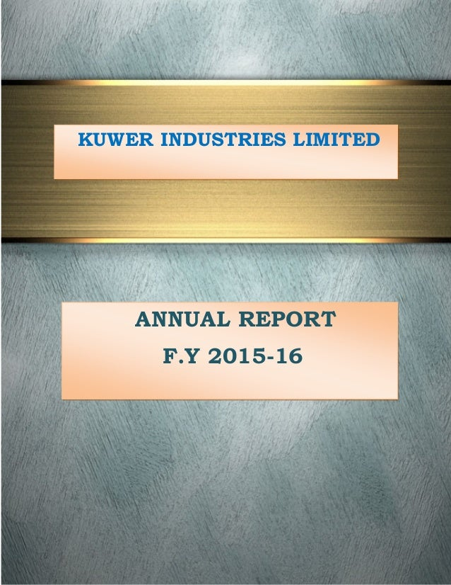 KUWER INDUSTRIES LIMITED ANNUAL REPORT F.Y 2015-16