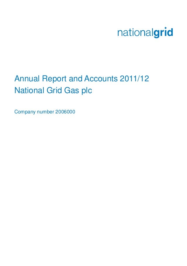 Annual Report and Accounts 2011/12National Grid Gas plcCompany number 2006000