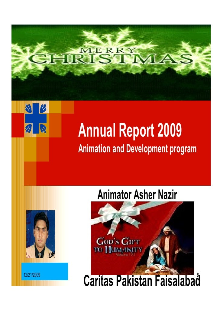 Annual Report 2009              Animation and Development program                      Animator Asher Nazir     12/21/2009...