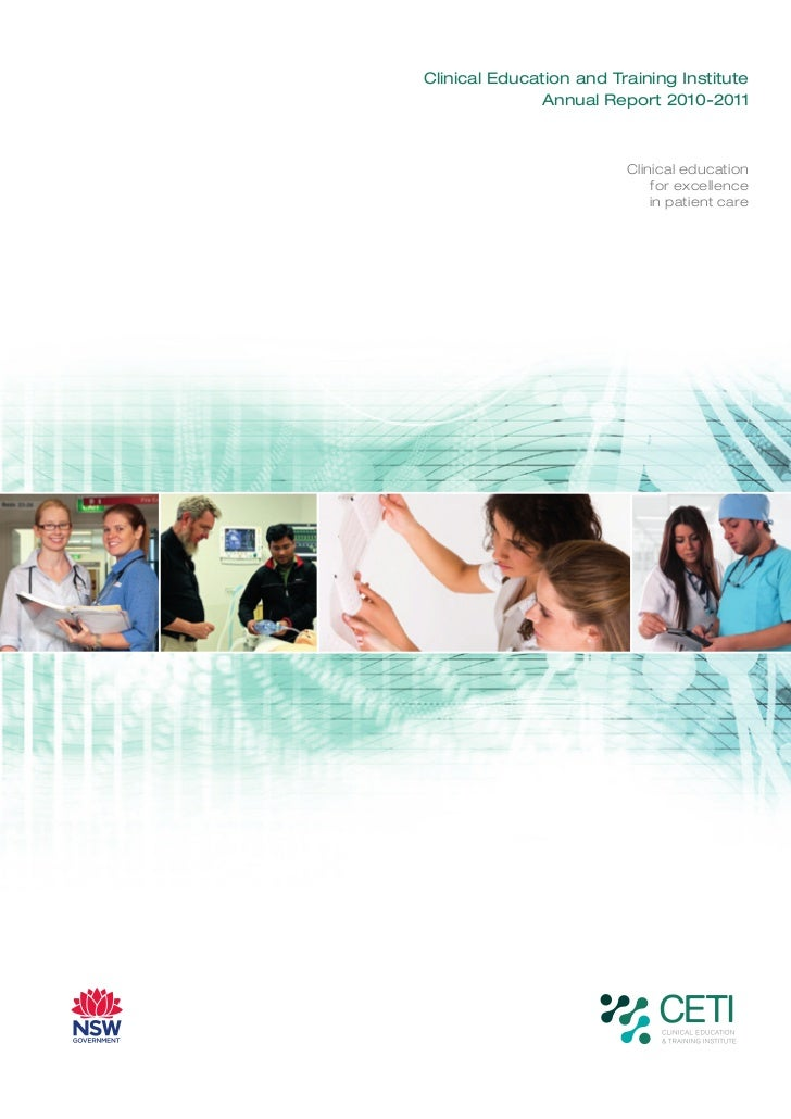 Clinical Education and Training Institute              Annual Report 2010-2011                         Clinical education ...