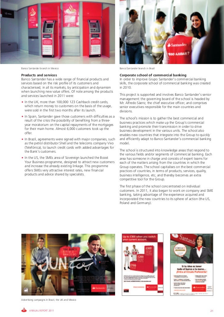 Banco Santander branch in Mexico                                     Banco Santander branch in BrazilProducts and services...