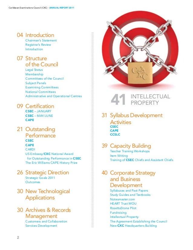 cxc annual report 2011