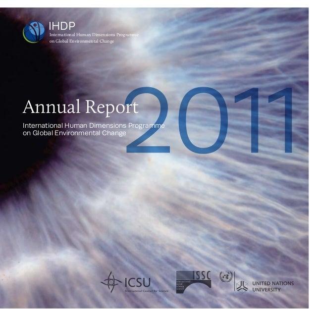 IHDP       International Human Dimensions Programme       on Global Environmental ChangeAnnual ReportInternational Human D...