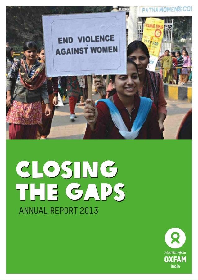 Annual Report 2013 | 1 Closing the Gaps Closing the Gaps ANNUAL REPORT 2013