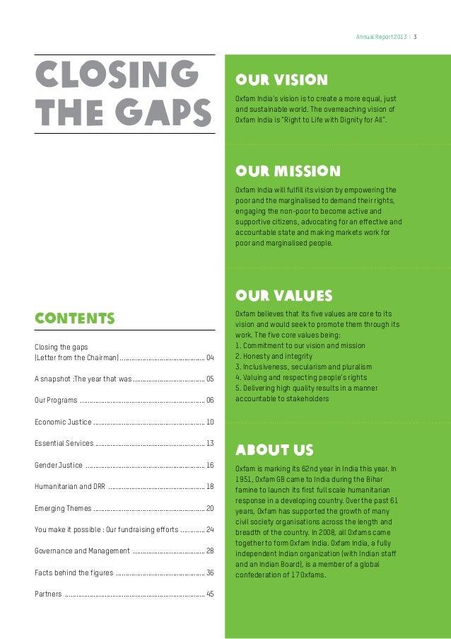 Oxfam India Annual Report 2013 Slide 3