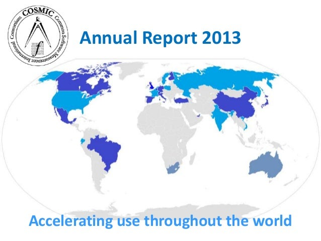COSMIC Annual report 2013