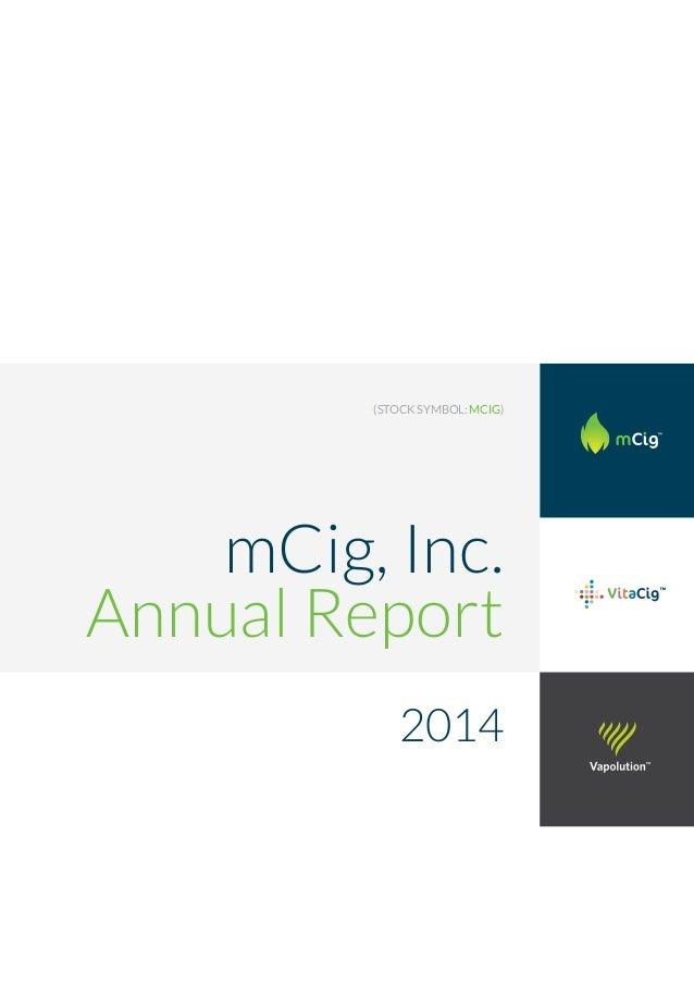 Mcig Inc Stock Symbol Mcig 2014 Annual Report
