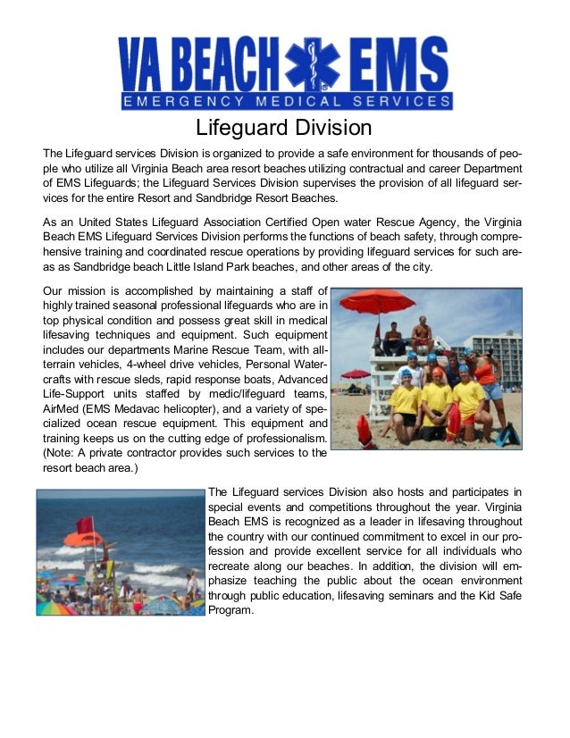 virginia beach department of ems: annual report 2014