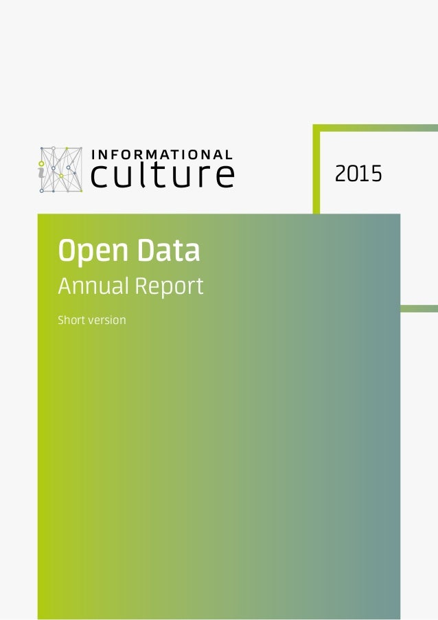 2015 Open Data Annual Report Short version
