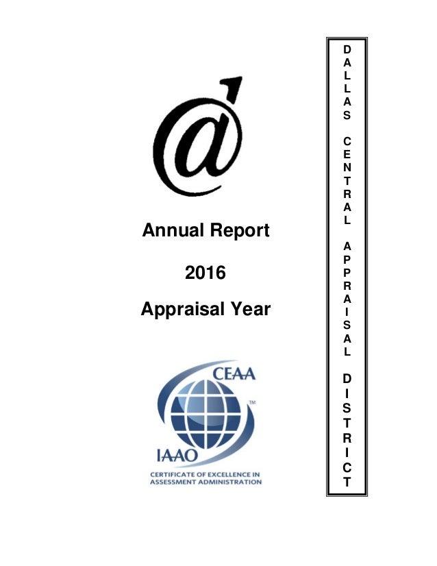 Dallas CAD Annual Report - 2016