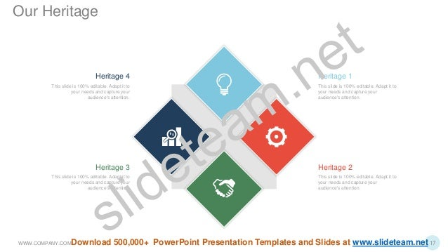 This slide is 100% editable. Adapt it to your needs and capture your audience's attention. Heritage 1 Heritage 2 This slid...
