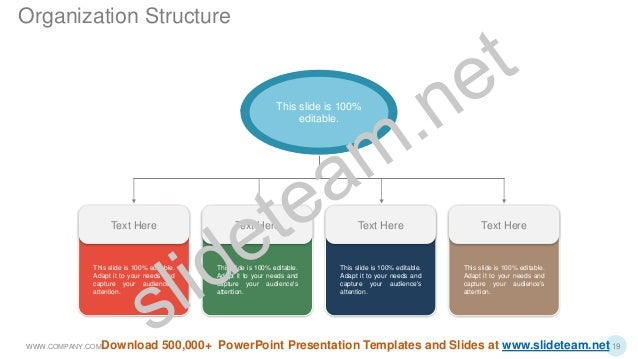This slide is 100% editable. Adapt it to your needs and capture your audience's attention. Text Here This slide is 100% ed...
