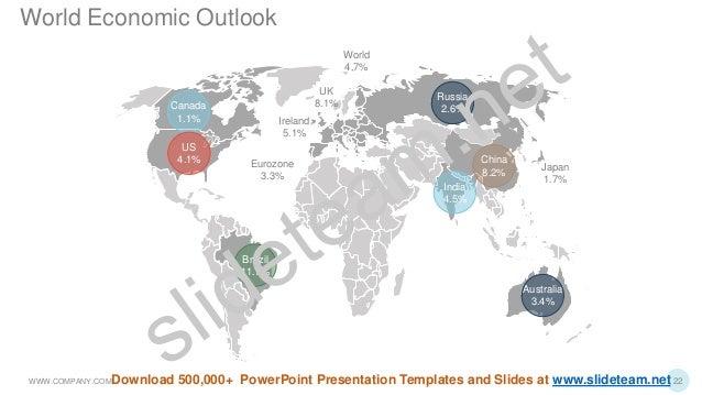 Japan 1.7% Canada 1.1% US 4.1% Brazil 11.1% India 4.5% Australia 3.4% China 8.2% Russia 2.6% Eurozone 3.3% UK 8.1% Ireland...