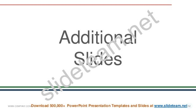WWW.COMPANY.COM 52 Additional Slides Download 500,000+ PowerPoint Presentation Templates and Slides at www.slideteam.net
