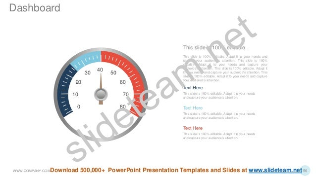 40 50 60 0 7010 80 20 30 Text Here This slide is 100% editable. Adapt it to your needs and capture your audience's attenti...