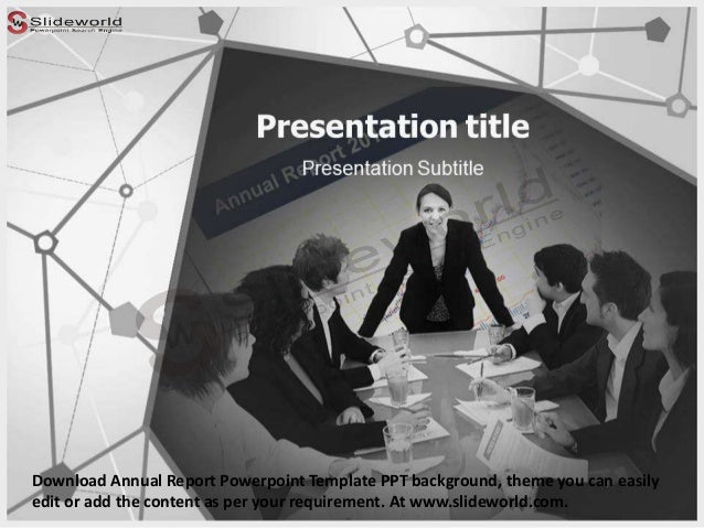 Download Annual Report Powerpoint Template PPT background, theme you can easily edit or add the content as per your requir...