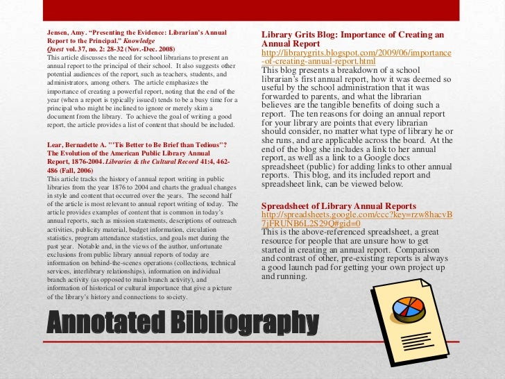 Annotated bibliography qualitative research journal articles
