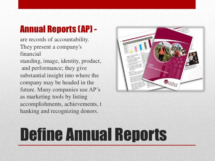 Annual Reports – Company Annual Report Sample