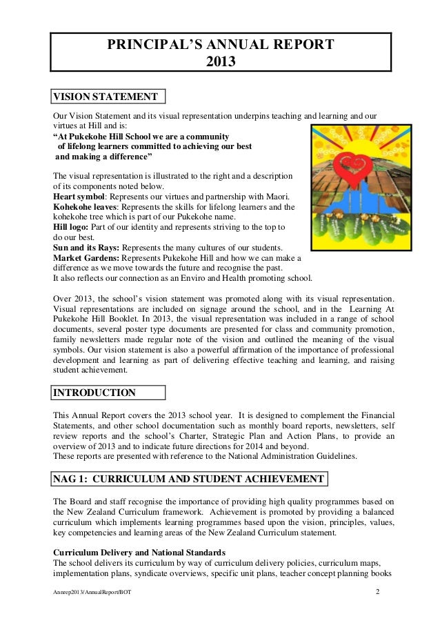 principal annual report 2013
