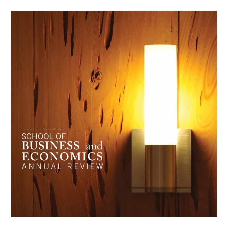 Indiana University South Bend  school of business and economics annual review