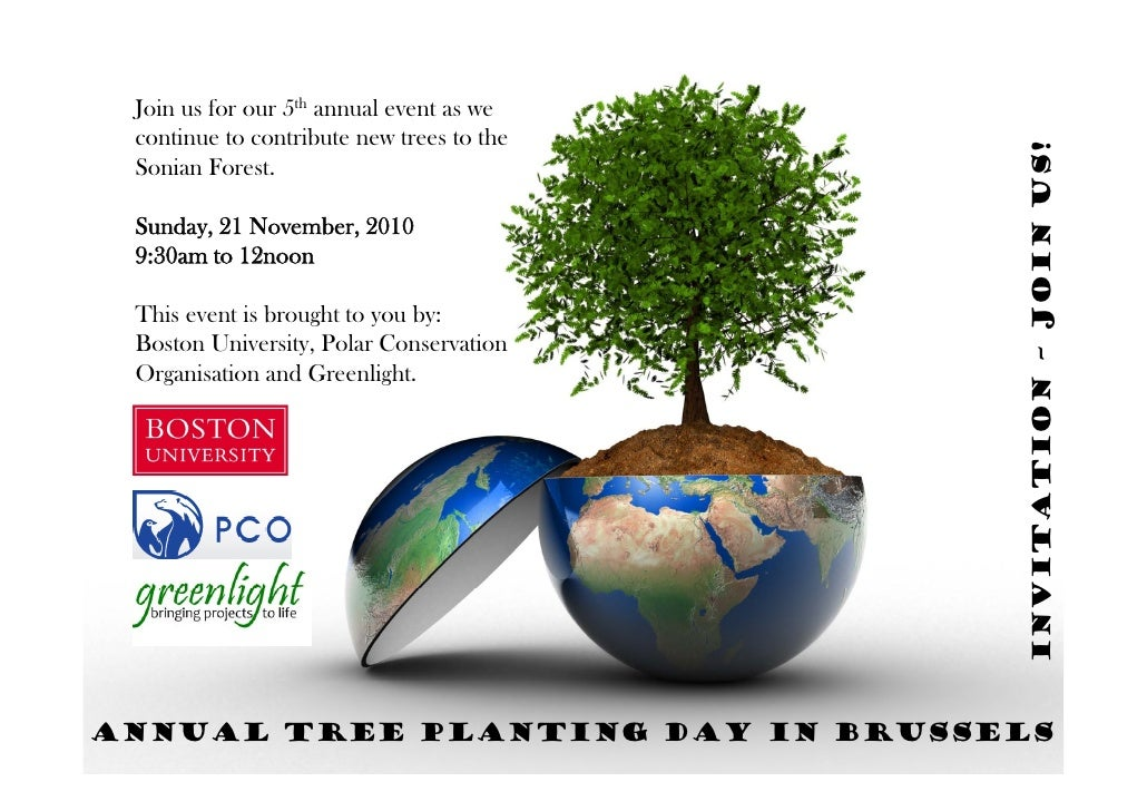 Annual Tree Planting Day Invitation