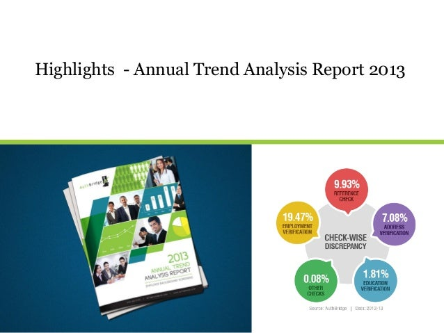 Highlights - Annual Trend Analysis Report 2013