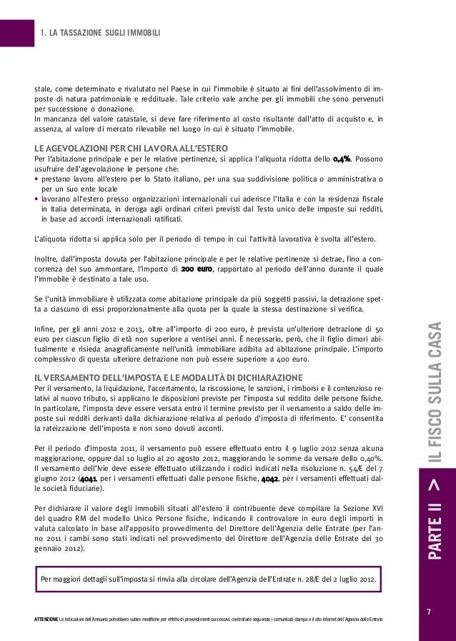 Imposte sulla casa annuario 2012 - Costo donazione casa ...