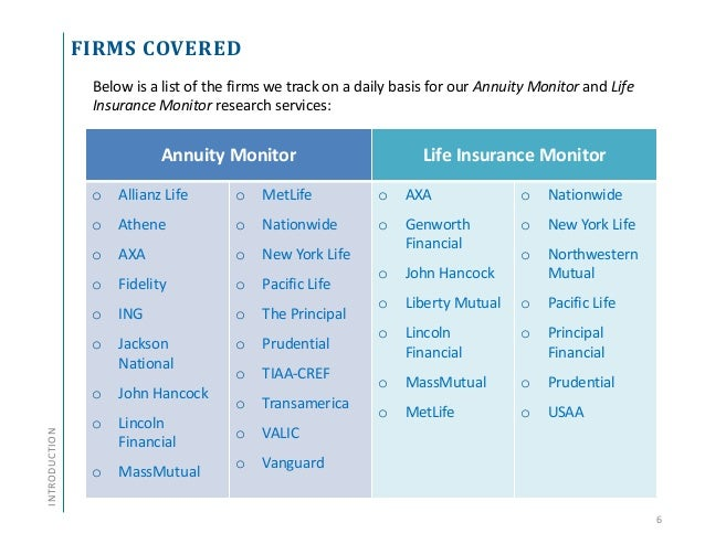 Annuity And Life Insurance Product Update Q1 2014