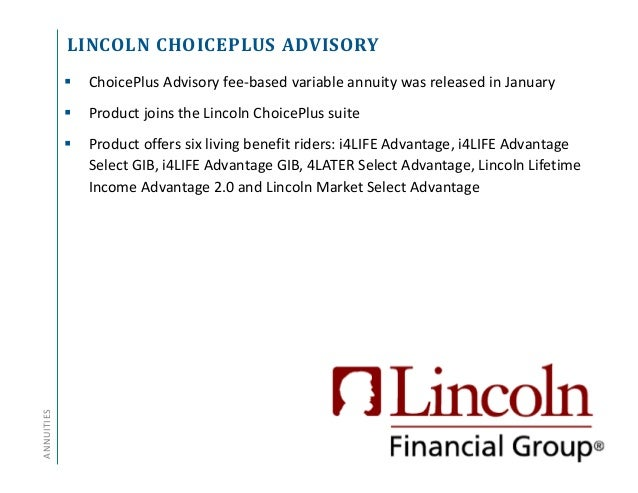 Annuity And Life Insurance Product Update Q1 2017