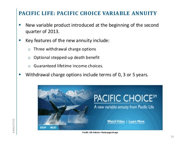 Pacific life investment options