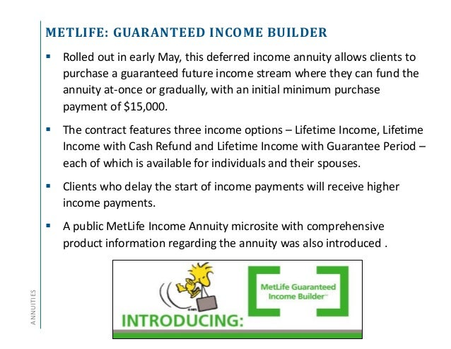 Annuity and Life Insurance Product Update - Q2 2014