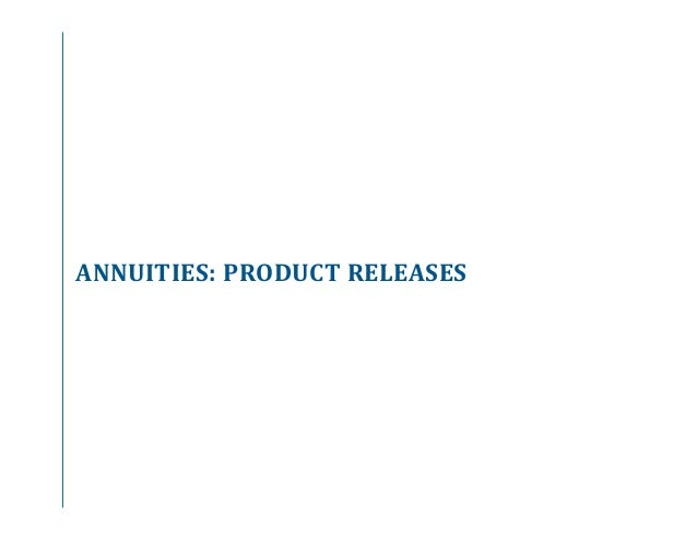 Annuity And Life Insurance Product Update Q3 2015