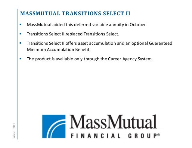 Massmutual fixed account investment option