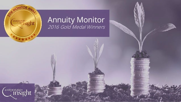 Annuity Monitor 2016 Gold Medal Winners