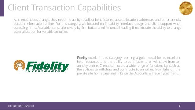 As clients' needs change, they need the ability to adjust beneficiaries, asset allocation, addresses and other annuity acc...