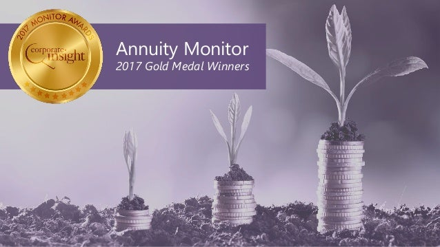 Annuity Monitor 2017 Gold Medal Winners