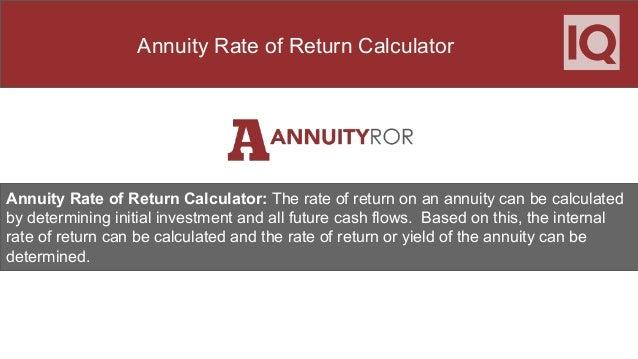annuity rate of return calculator