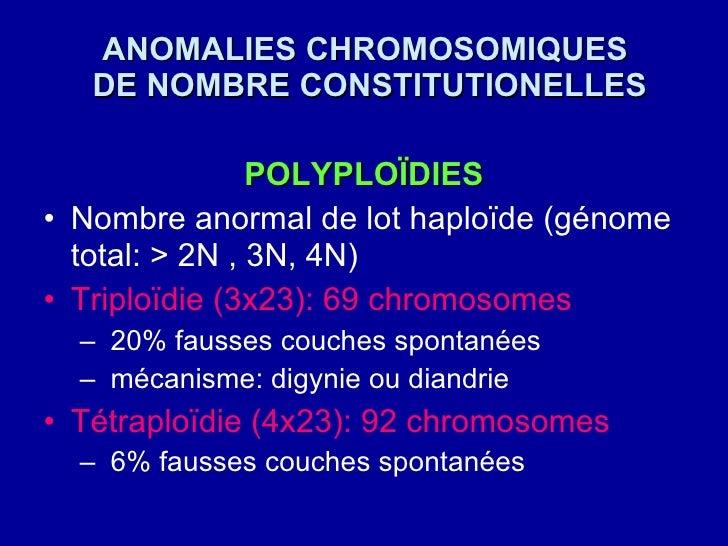 Ano chro de nombre tudiants - Anomalie chromosomique fausse couche ...