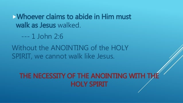 how to get the anointing of the holy spirit
