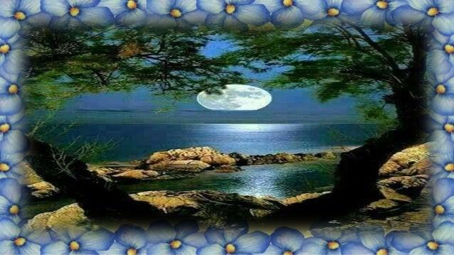 Rebrilham estrelas em meio à escuridão Na terra e no céu, qual joias de um tesouro, E a noite canta, em tantas vozes, geme...