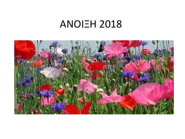 ΑΝΟΙΞΗ 2018